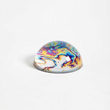 "Vesta Fermacarte in vetro Hypnosis dal design moderno ""Orange Wave"" Stone     0101605HYP"
