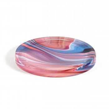 """Vesta Svuotatasche rotondo in stile moderno Hypnosis in plexiglass """"Pink Jupiter"""" Hollow     0102902HYP"""