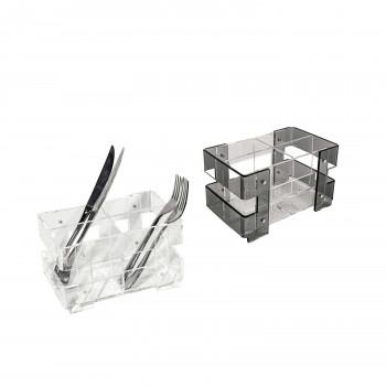Vesta Portaposate da tavola con struttura in plexiglass dalle linee moderne Minerva     01065