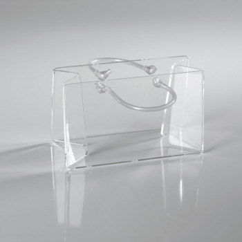Vesta Portaposta da tavolo in plexiglass Shopper