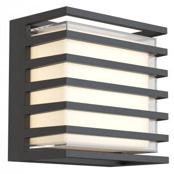 Maytoni Illuminazione da parete per esterno con diffusore a LED dal design moderno Downing Street  Lumen 380 3000k Luce Calda  O020WL-L10B4K