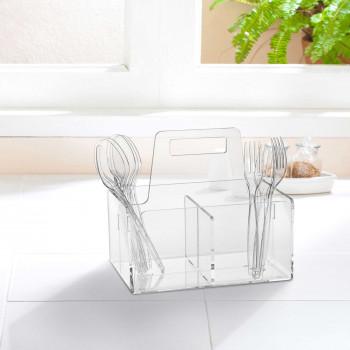 Vesta Portaposate grande in plexiglass dalle linee morbide e moderne Like Water     07204