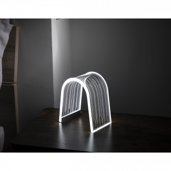 Vesta Lampada da comodino a Led dal design moderno versione Line Arc Trasparente  3000k Luce Calda  0816501