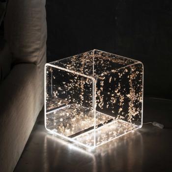Vesta Lampada da terra a Led con forma quadrata in plexiglass Future   3000k Luce Calda  08910