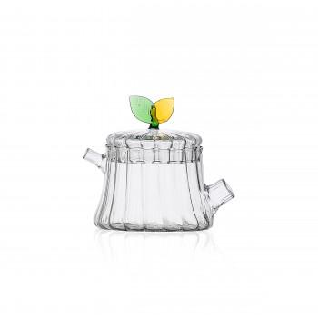 Ichendorf Zuccheriera in vetro con foglia GreenWood Verde    093520134