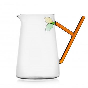 Ichendorf Brocca in vetro con foglia GreenWood Arancione    093520140