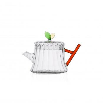 Ichendorf Teiera in vetro con foglia GreenWood Arancione    093520141