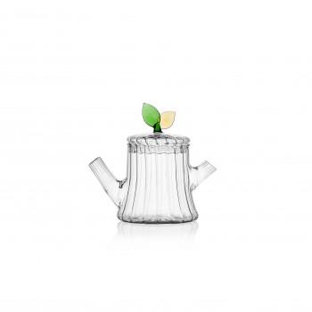 Ichendorf Lattiera in vetro con foglia GreenWood Verde    093520142