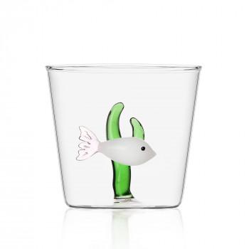 Ichendorf Bicchiere in vetro per aperitivi con all'interno pesciolino  Marine Garden Verde    09352057