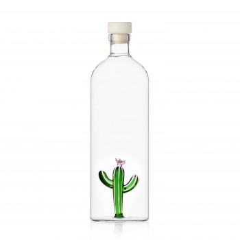 Ichendorf Bottiglia in vetro con decorazione interna cactus Desert Plant Verde    09352098