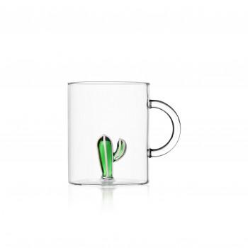 Ichendorf Mug in vetro con catus Desert Plant Verde    09352108