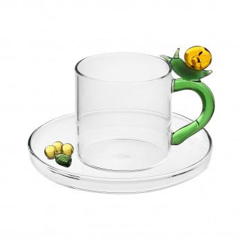 Ichendorf Tazzina da Caffè conpiattino decorazione con Lumaca Fruit and Flowers Verde    09352190