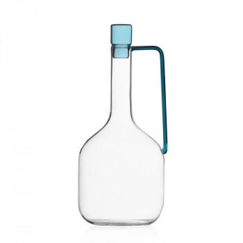 Ichendorf Brocca in vetro con tappo Liberta Blu Petrolio    09352287