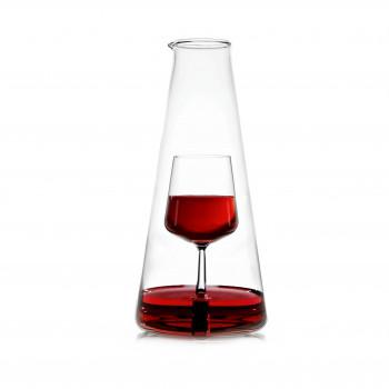 Ichendorf Caraffa in vetro per vino grande con decorazione calice all'interno InBottiglia Trasparente    093598429