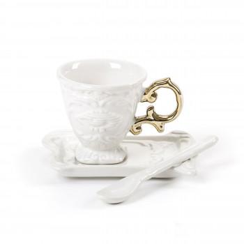 """Seletti Set 1 Tazza da caffè con piattino e cucchiaino """"I-Wares""""      09869"""