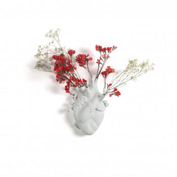 """Seletti Vaso in porcellana a forma di cuore """"Love in Bloom"""""""