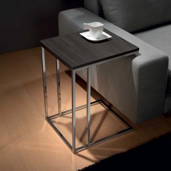 Pezzani Tavolino da salotto grande in legno di design italiano Lamina