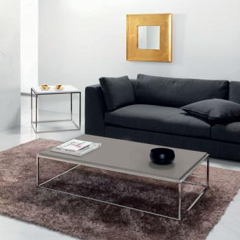 Pezzani Tavolino da soggiorno basso rettangolare struttura in acciaio e base in laminato Lamina     0/214.XL.L