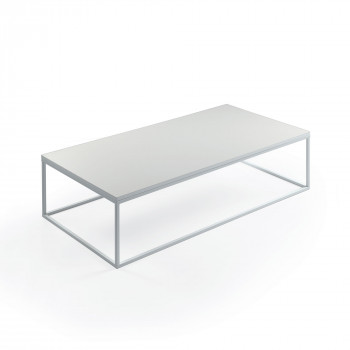 Pezzani Tavolino da salotto basso rettangolare in acciaio con base in laminato Lamina     0/214.XL.S