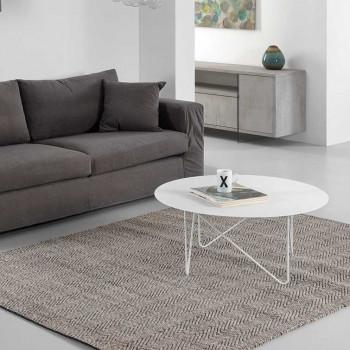Pezzani Tavolino da salotto ovale grande in acciaio sabbiato Shape     0/231