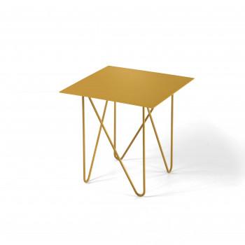 Pezzani Tavolino da salotto piccolo quadrato moderno in acciaio Shape