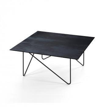 Pezzani Tavolino da soggiorno con struttura in acciaio con vernice sabbiata Shape     0/233.L