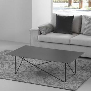 Pezzani Tavolino da salotto rettangolare moderno in acciaio sabbiato Shape     0/234