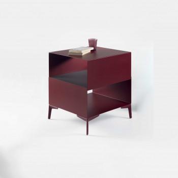 """Pezzani Tavolino da salotto moderno in acciaio """"Cube"""""""