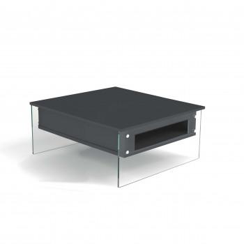 Pezzani Tavolino da salotto moderno piccolo con contenitore London