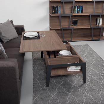 Pezzani Tavolino da salotto moderno medio con contenitore Brighton     0/266