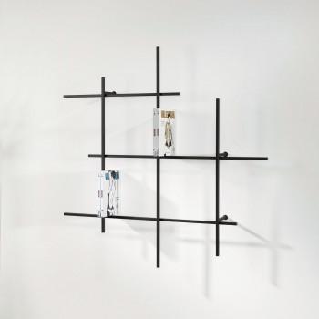 Pezzani Libreria da parete tubolare piccola di design moderno e minimalista Libra     0/72-1