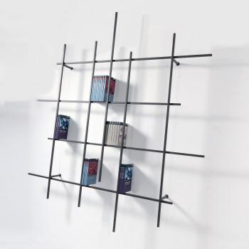 Pezzani Libreria da parete tubolare grande di design moderno e minimalista Libra     0/72-2