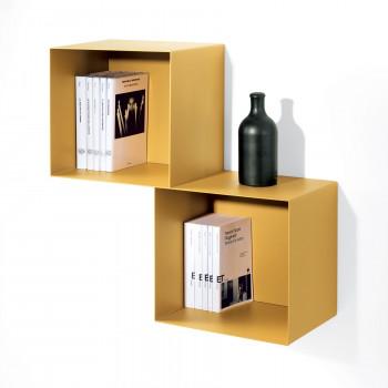 Pezzani Libreria da parete piccola a cubi grandi con struttura componibile stile moderno Twin     0/77