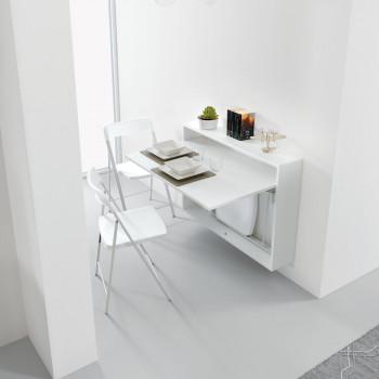 Pezzani Scrivania da parete richiudibile con struttura in legno Bureau
