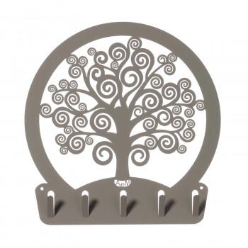 Arti e Mestieri Portachiavi in metallo da ingresso in stile moderno Albero della Vita     3611