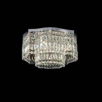 Maytoni Lampadario da soffitto piccolo stile classico in metallo con pendenti in vetro Dune Trasparente    DIA005CL-06CH