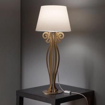 Arti e Mestieri Lampada da tavolo grande in metallo dallo stile moderno Circeo     3512