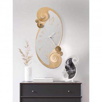 Arti e Mestieri Orologio da muro da salotto dal design elegante in metallo Circeo     3368