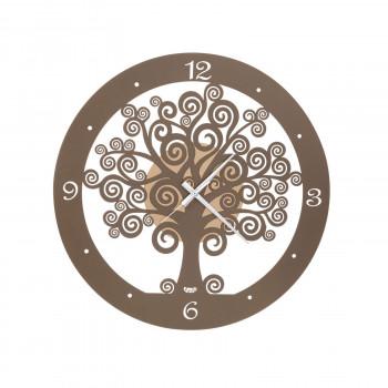 Arti e Mestieri Orologio da parete piccolo con lancette in alluminio Albero della Vita