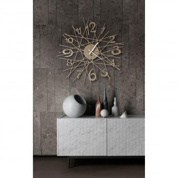 Arti e Mestieri Orologio da parete in metallo di design in stile moderno Zig Zag     3513