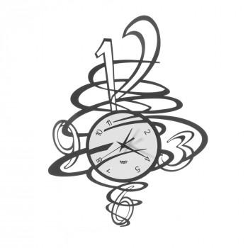 Arti e Mestieri Orologio da parete dal design moderno in metallo Tornado     3552