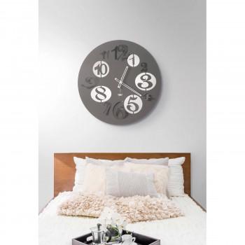 Arti e Mestieri Orologio da parete per salotto con numeri grandi di design moderno Big Babol     3565