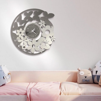 Arti e Mestieri Orologio da parete per soggiorno e cucina in stile primaverile con farfalle Storm Springs     3566