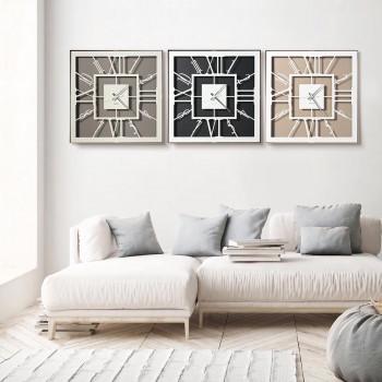 Arti e Mestieri Orologio da muro da salotto dal design moderno realizzato in metallo Tauro     3586