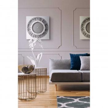 Arti e Mestieri Orologio da parete quadrato in metallo dallo stile contemporaneo Quadrante     3597