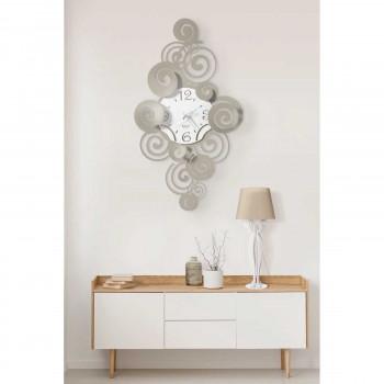Arti e Mestieri Orologio da parete in metallo verticale dalle linee moderne Arabesque     3607
