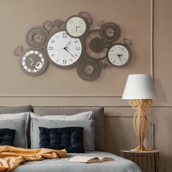 Arti e Mestieri Orologio da parete orizzontale particolare in metallo dal design contemporaneo Remember     3614