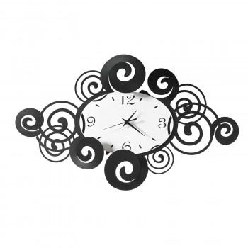 Arti e Mestieri Orologio da parete in metallo orizzontale dalle linee moderne Arabesque     3620
