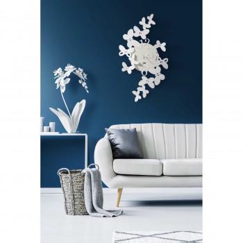 Arti e Mestieri Orologio da parete in metallo in stile moderno con farfalle Papillon     3623