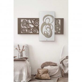 Arti e Mestieri Pannello in metallo dal design contemporaneo con Sacra Famiglia      3672